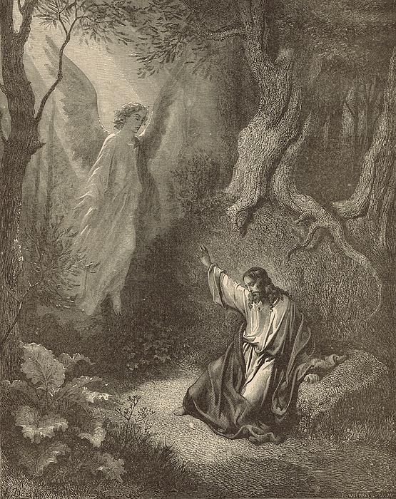 The Agony In The Garden Print by Antique Engravings