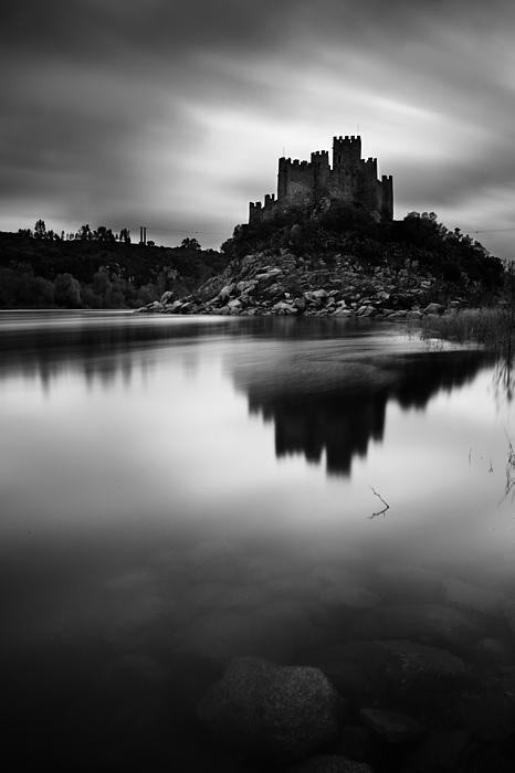 The Almourol Castle Print by Jorge Maia