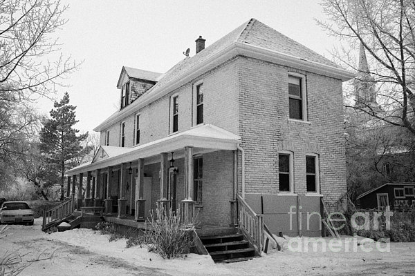 the ananda arthouse in the former st josephs rectory in Forget Saskatchewan Canada Print by Joe Fox