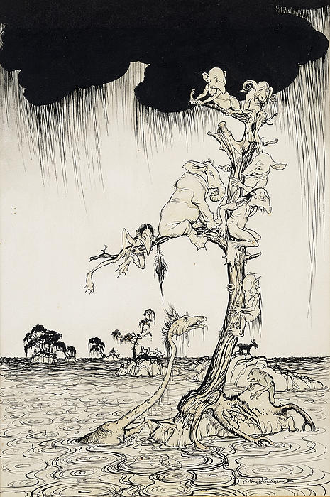The Animals You Know Are Not As They Are Now Print by Arthur Rackham
