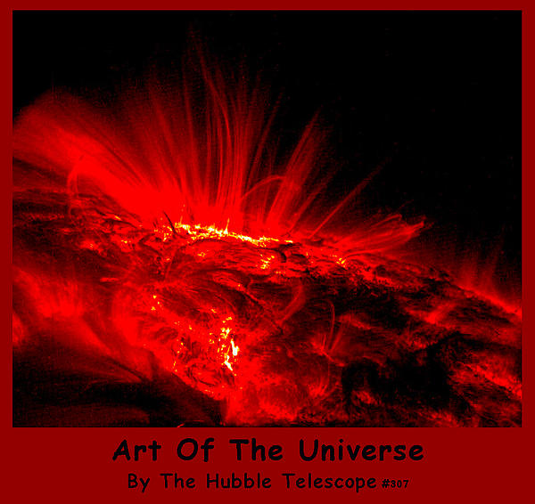 The Art Of The Universe 307 Print by The Hubble Telescope
