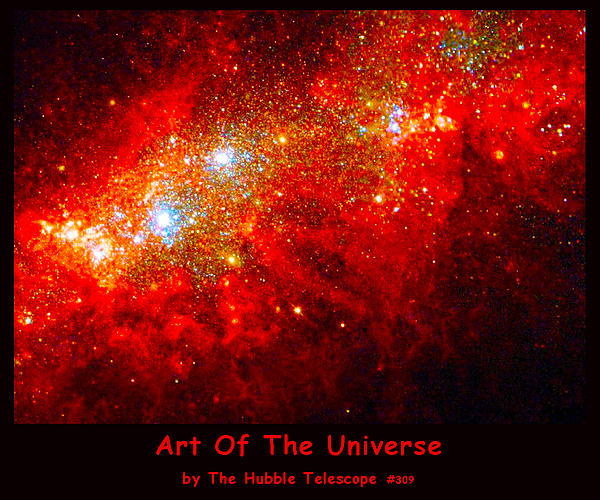 The Art Of The Universe 309 Print by The Hubble Telescope