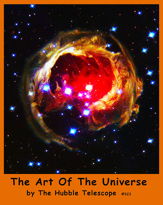 The Art Of The Universe 323 Print by The Hubble Telescope