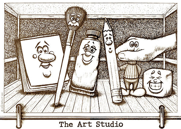The Art Studio Print by Cristophers Dream Artistry