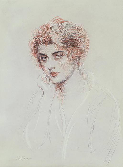 The Artists Daughter Print by Paul Cesar Helleu