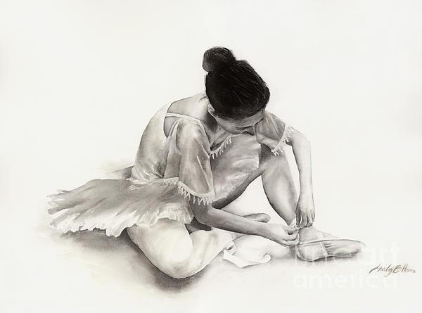The Ballet Dancer Print by Hailey E Herrera