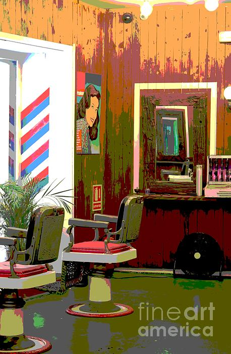 The Barber Shop Print by Sophie Vigneault