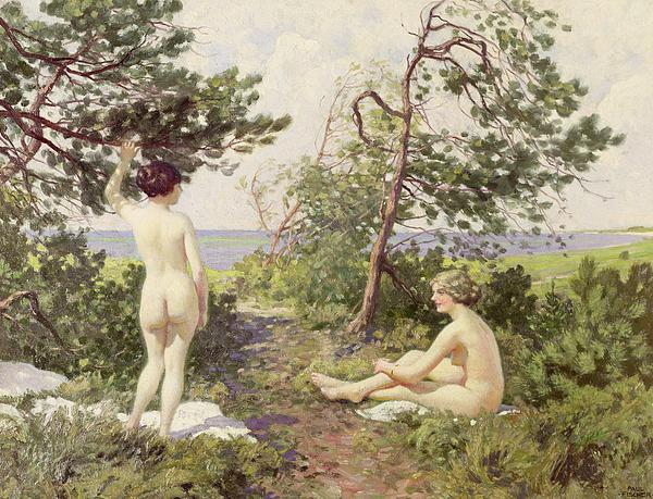The Bathers Print by Paul Fischer
