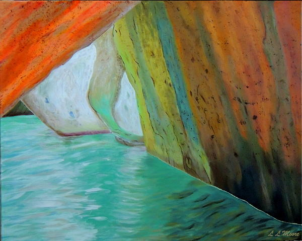 The Baths Print by Linda Moore
