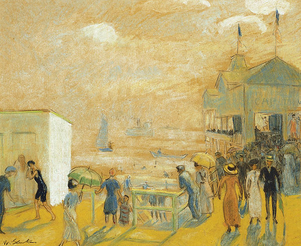 The Battery Print by William James Glackens