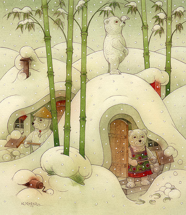 The Bears Print by Kestutis Kasparavicius