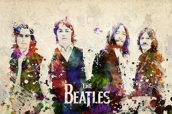 The Beatles Print by Aged Pixel