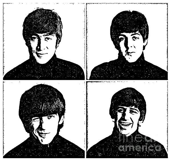 The Beatles No.13 Print by Caio Caldas
