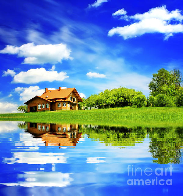 The Beautiful House Print by Boon Mee