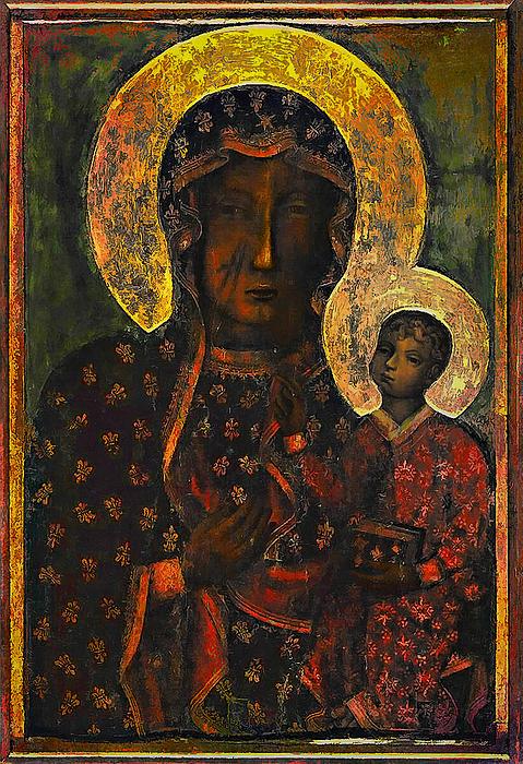 The Black Madonna Print by Andrzej Szczerski