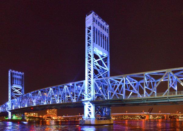 The Blue Bridge - Main Street Bridge Jacksonville Print by Christine Till