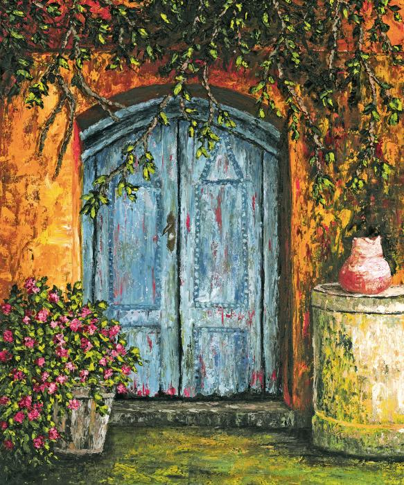 the blue door print by darice machel mcguire