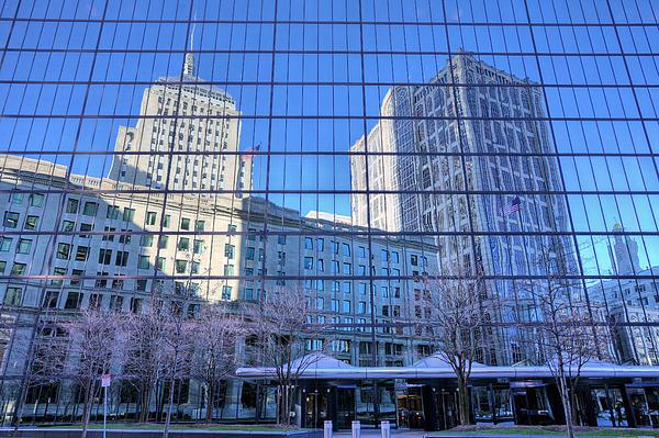 The Boston Skyline Print by JC Findley