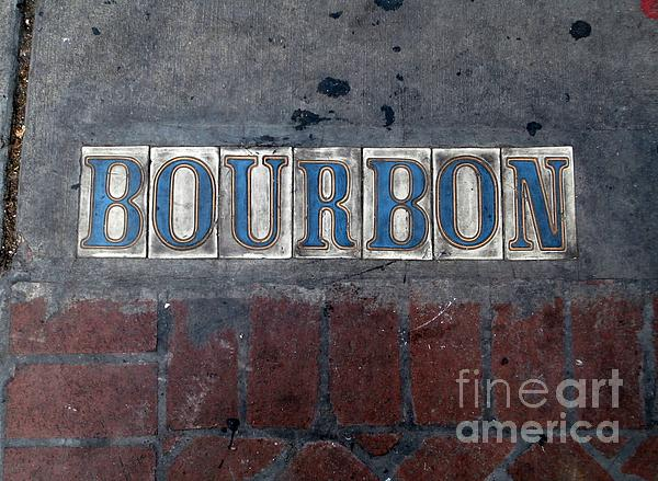 The Bourbon Street Sign Print by Joseph Baril