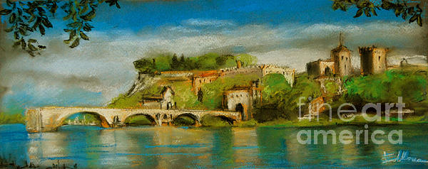 MONA EDULESCO - Emona Art - The Bridge Of Avignon