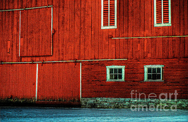 The Broad Side Of A Barn Print by Lois Bryan