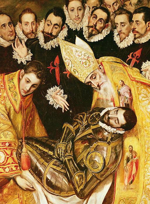 The Burial Of Count Orgaz Print by El Greco Domenico Theotocopuli