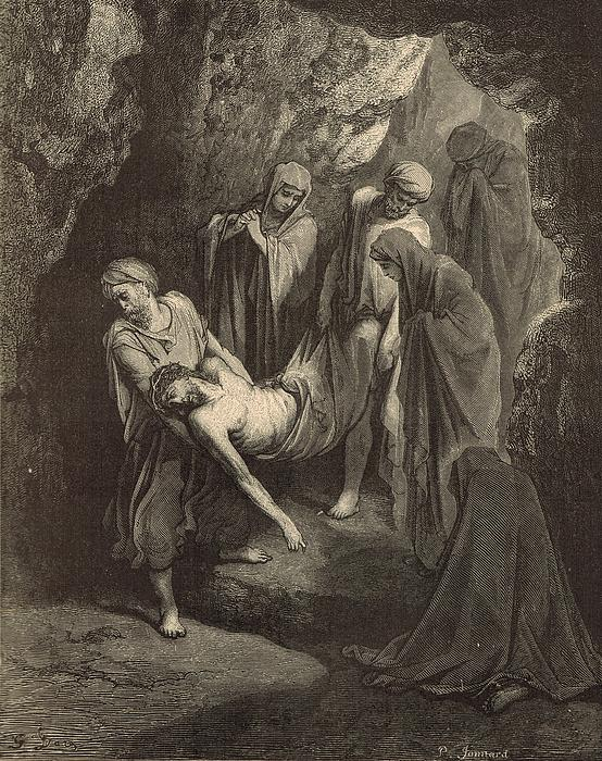 The Burial Of Jesus Print by Antique Engravings