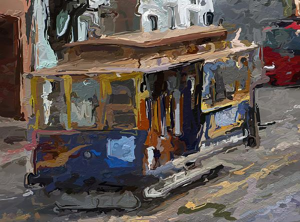 The Cable Car Print by Stefan Kuhn