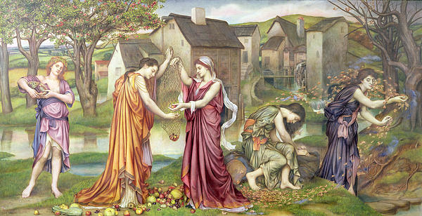 The Cadence Of Autumn Print by Evelyn De Morgan