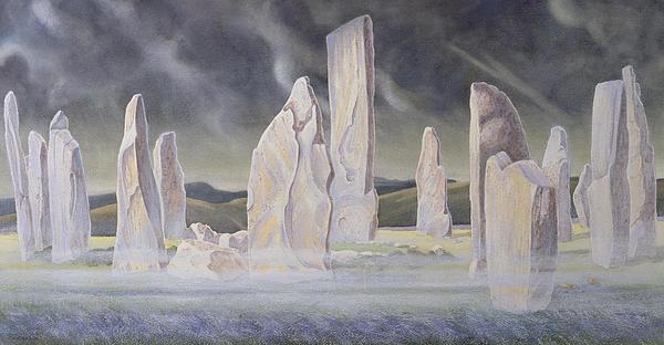 The Callanish Legend Isle Of Lewis Print by Evangeline Dickson