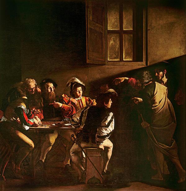 The Calling Of St Matthew Print by Michelangelo Merisi o Amerighi da Caravaggio