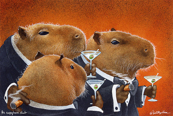 The Capybara Club... Print by Will Bullas