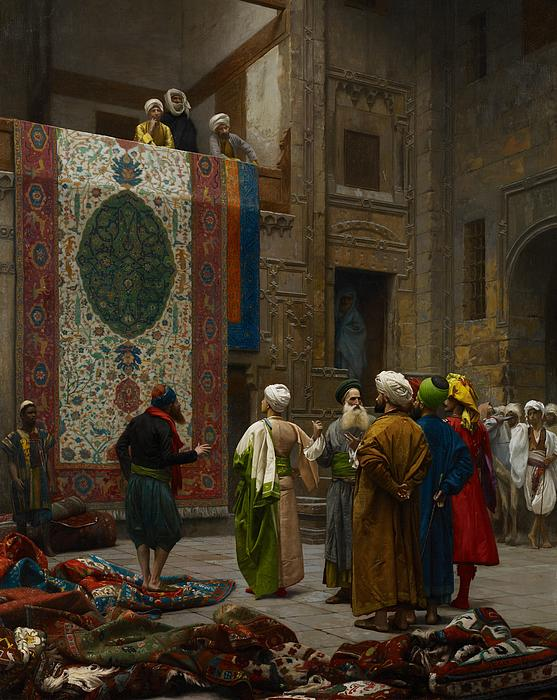 The Carpet Merchant Print by Jean Leon Gerome