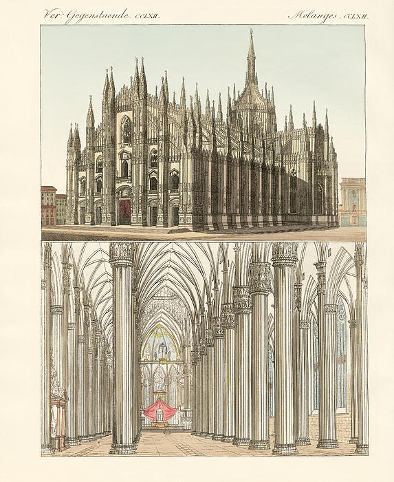 The Cathedral Of Milan Print by Splendid Art Prints