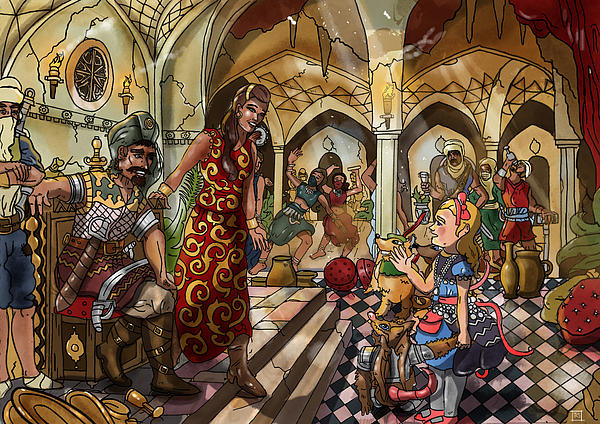 The Cave Of Ali Baba Print by Reynold Jay