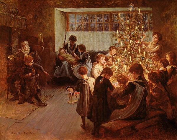 The Christmas Tree Print by Albert Chevallier Tayler