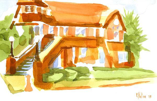 The Church On Shepherd Street Vi Print by Kip DeVore
