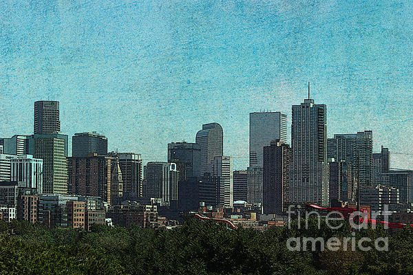 The City Of Denver Colorado Print by Janice Rae Pariza