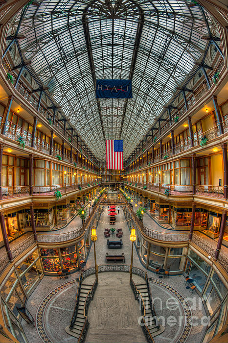 The Cleveland Arcade Vii Print by Clarence Holmes