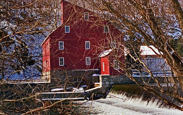 The Clinton Nj Mill Print by Skip Willits