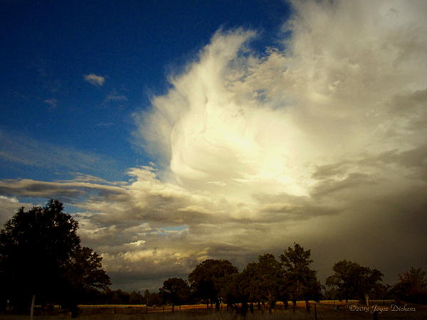 The Cloud - Horizontal Print by Joyce Dickens