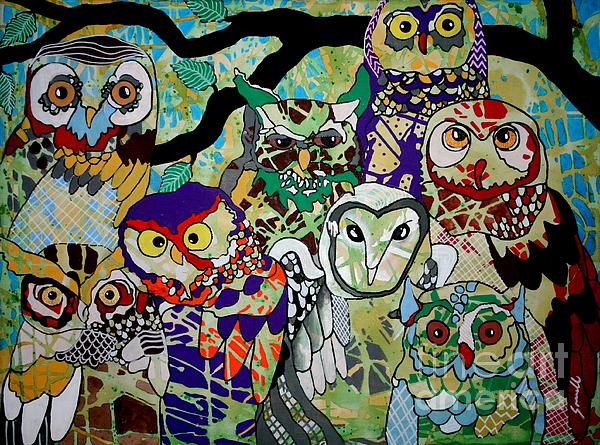 The Color Of Owls Print by Amy Sorrell