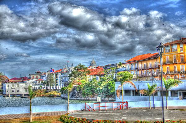 The Colors Of Casco Viejo Print by Bob Hislop