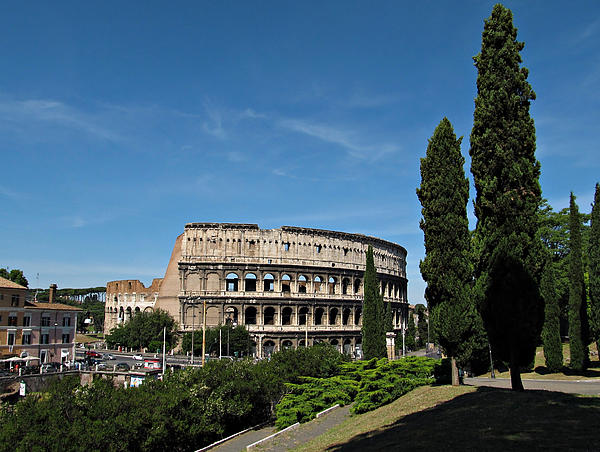 The Colosseum In Rome Print by Kiril Stanchev
