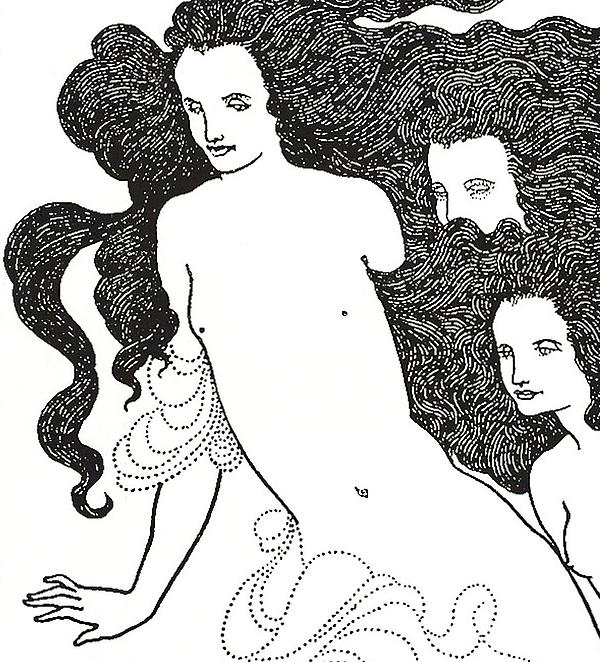 The Comedy Of The Rhinegold Print by Aubrey Beardsley