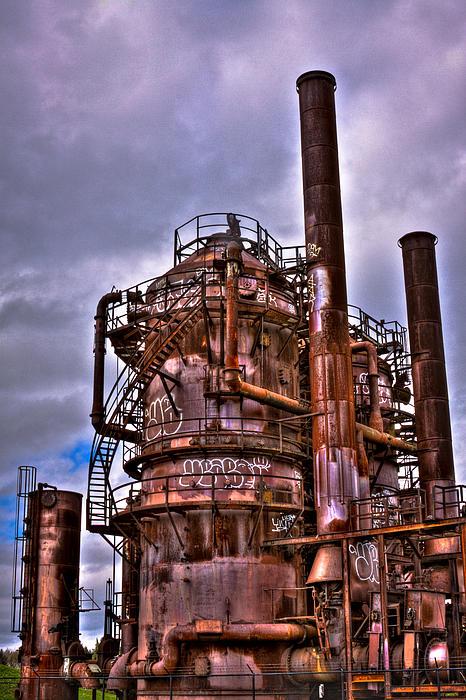 The Compressor Building At Gasworks Park - Seattle Washington Print by David Patterson