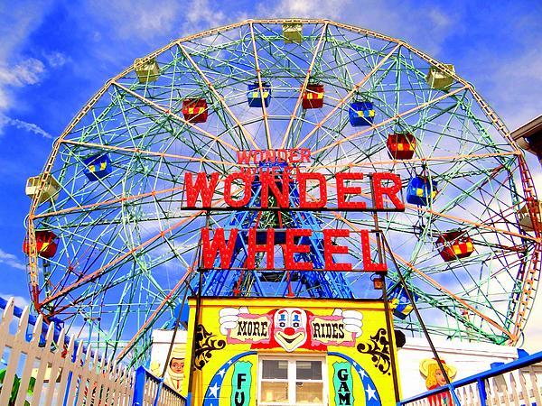 The Coney Island Wonder Wheel Print by Ed Weidman