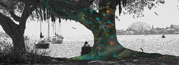 The Conscious Tree Print by Betsy A  Cutler