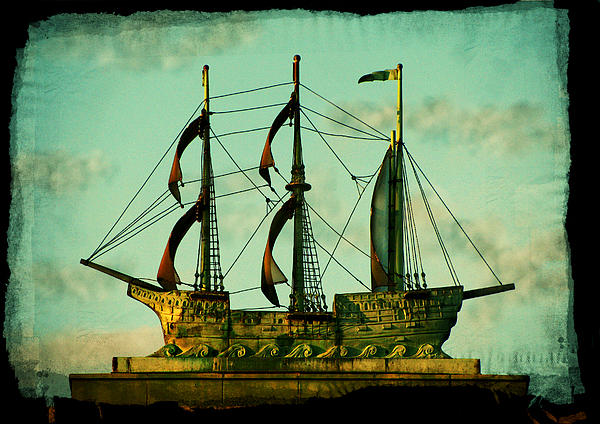 The Copper Ship Print by Colleen Kammerer