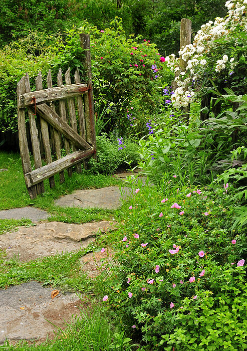 The cottage garden walkway by thomas schoeller for Cottage anglais